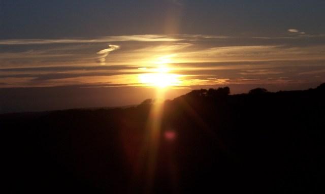 Sunset over the Ffarm